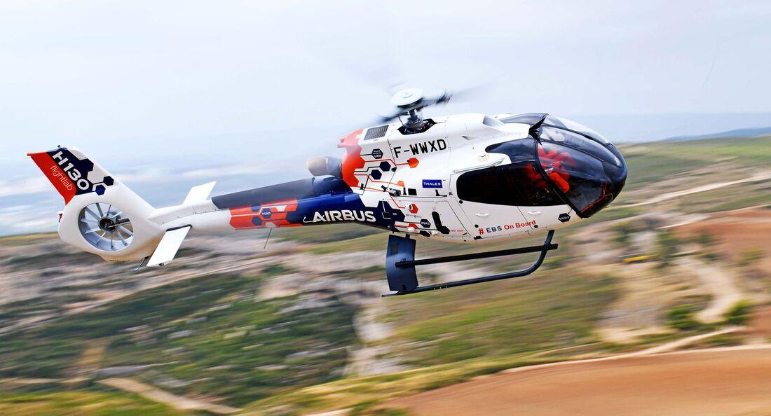 Airbus Helicopters nutzt eine H130 als Flightlab für verschiedene Versuchsprogramme.