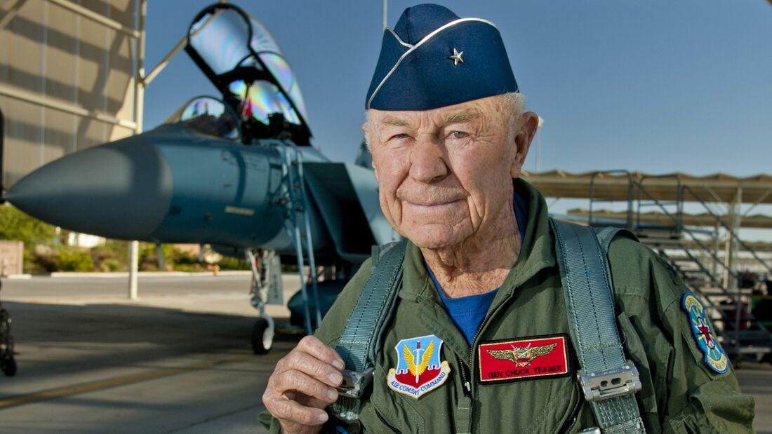 Chuck Yeager commemorates historic flight
